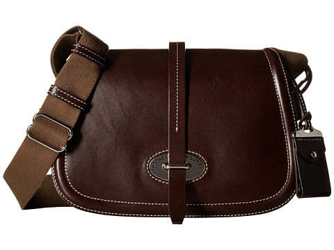Dooney & Bourke Florentine Small Saddle Bag - Espresso/Self Trim