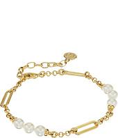 Majorica - Modern Metal Oval Accent Gold Bracelet