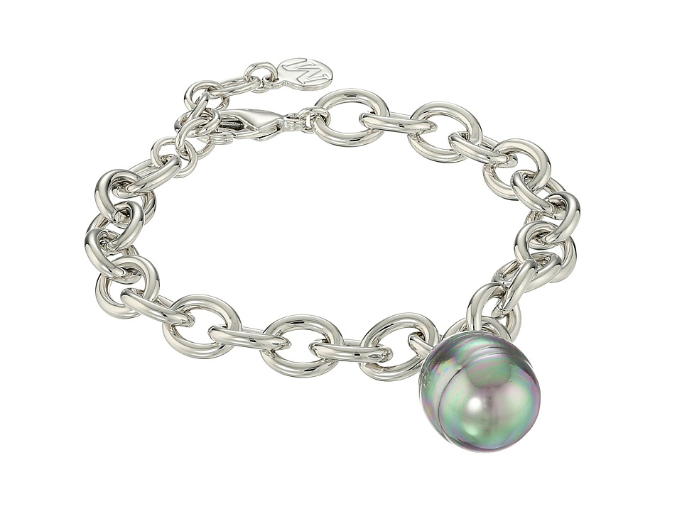 Majorica Modern Metal Gold Link Bracelet (Grey) Bracelet