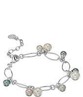 Majorica - Modern Metal Silver Link Charm Bracelet