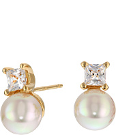 Majorica - TU Y YO CZ Gold Stud Earrings