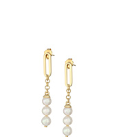 Majorica - Modern Metal Gold Drop Earrings