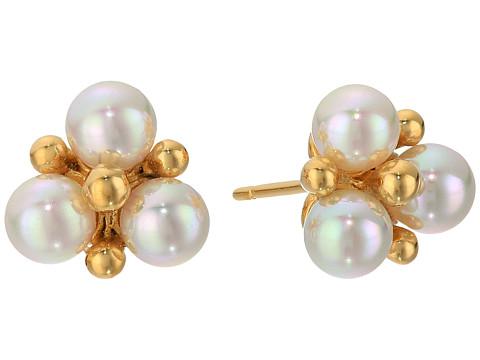 Majorica TU Y YO Pearl Cluster Gold Stud Earrings - White