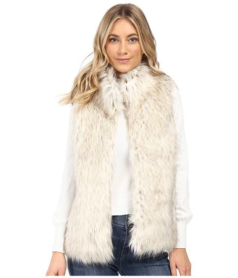 BB Dakota Brewer Faux Fur Vest - Dirty White