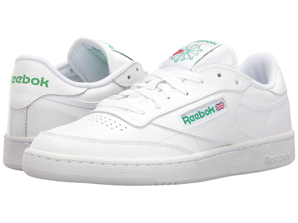 Reebok Lifestyle - Club C 85 (Int/White/Green) Mens Shoes