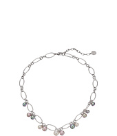 Majorica - Modern Metal Silver Link Charm Necklace