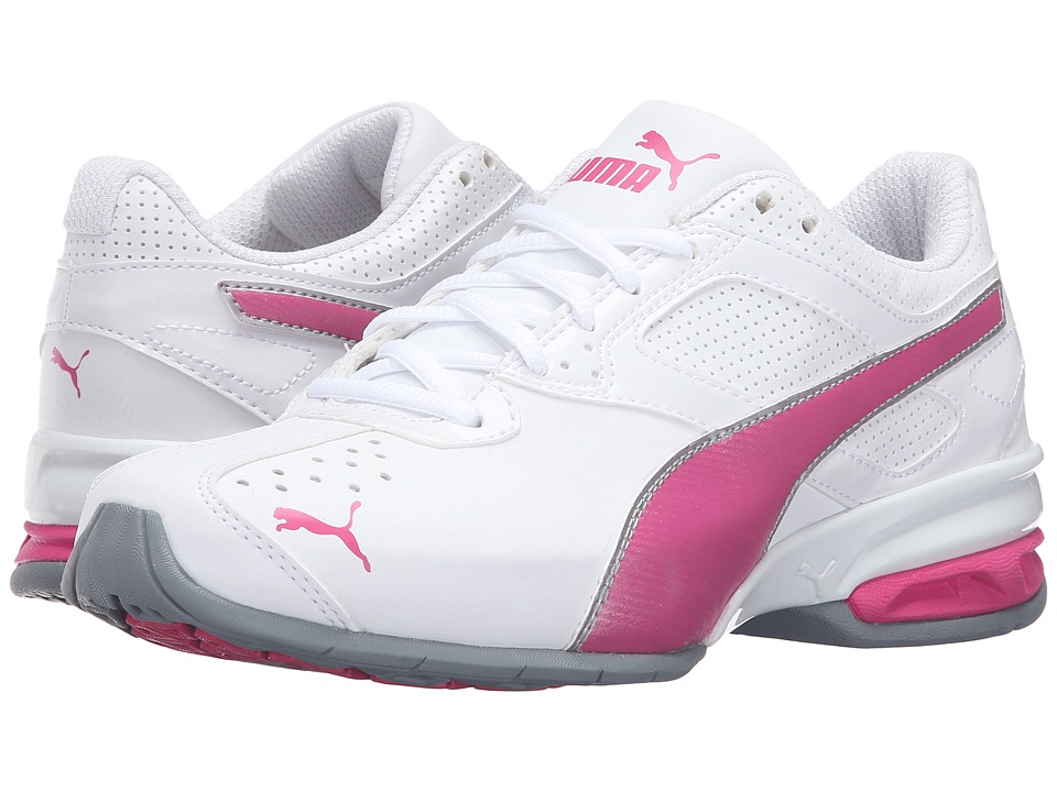 PUMA - Tazon 6 Wide FM (Puma White/Fuchsia) Womens Shoes