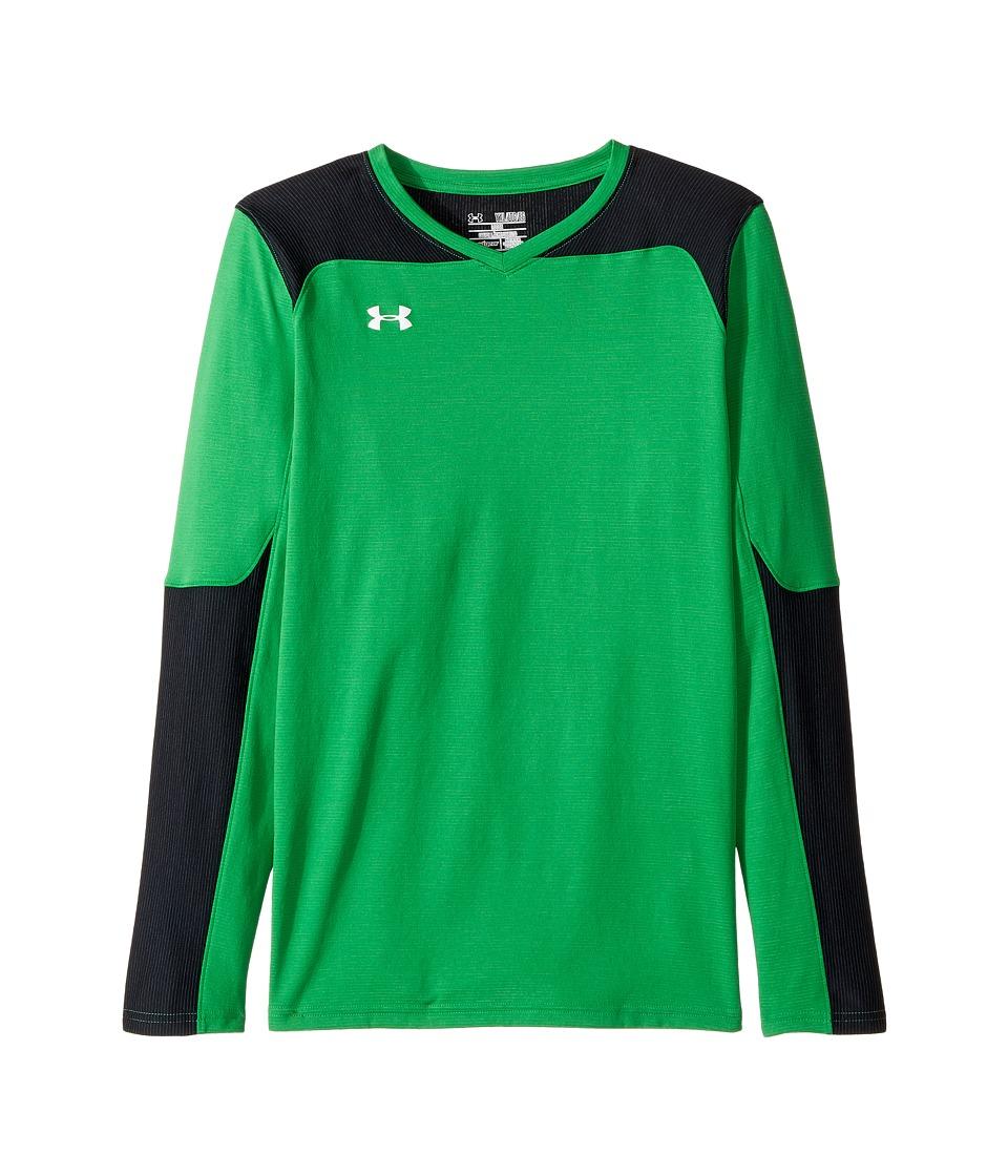 Under Armour Kids - Threadborne Wall Goal Keeping Jersey (Big Kids) (Putting Green) Boys Clothing