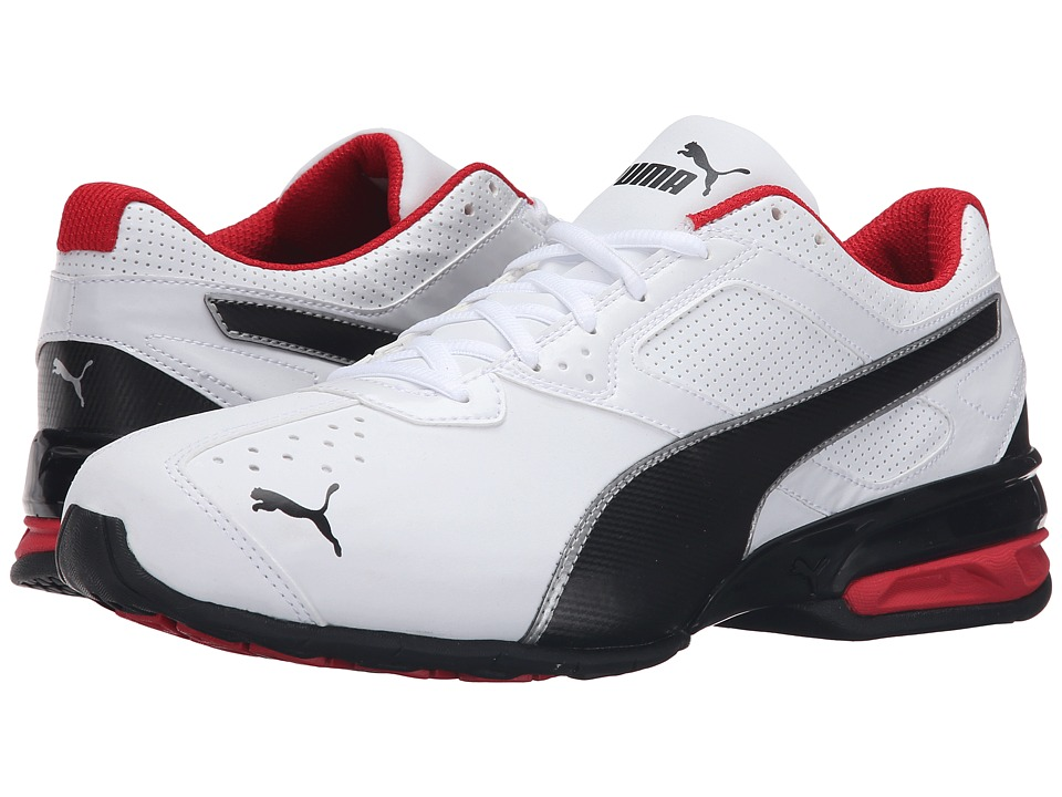 PUMA - Tazon 6 FM (Puma White/Puma Black) Mens Shoes