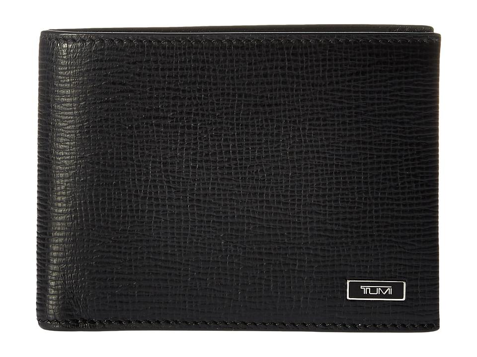 TUMI Monaco Double Billfold (Black) Wallet