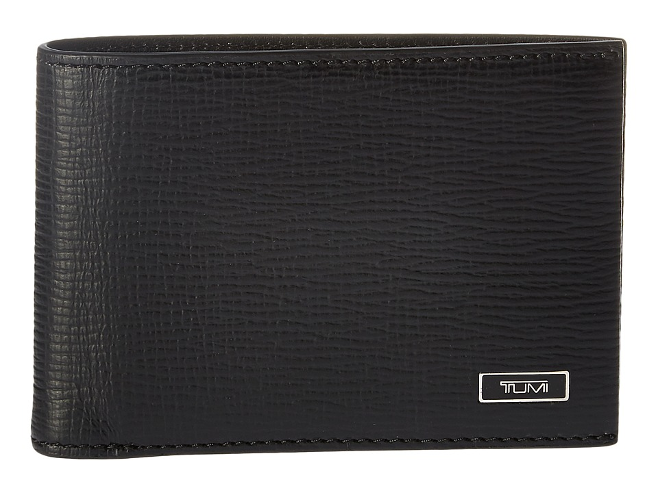 Tumi - Monaco Slim Single Billfold (Black) Bill-fold Wallet