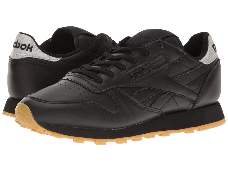 Reebok Lifestyle - Classic Leather Met Diamond (Black/Gum) Womens Shoes