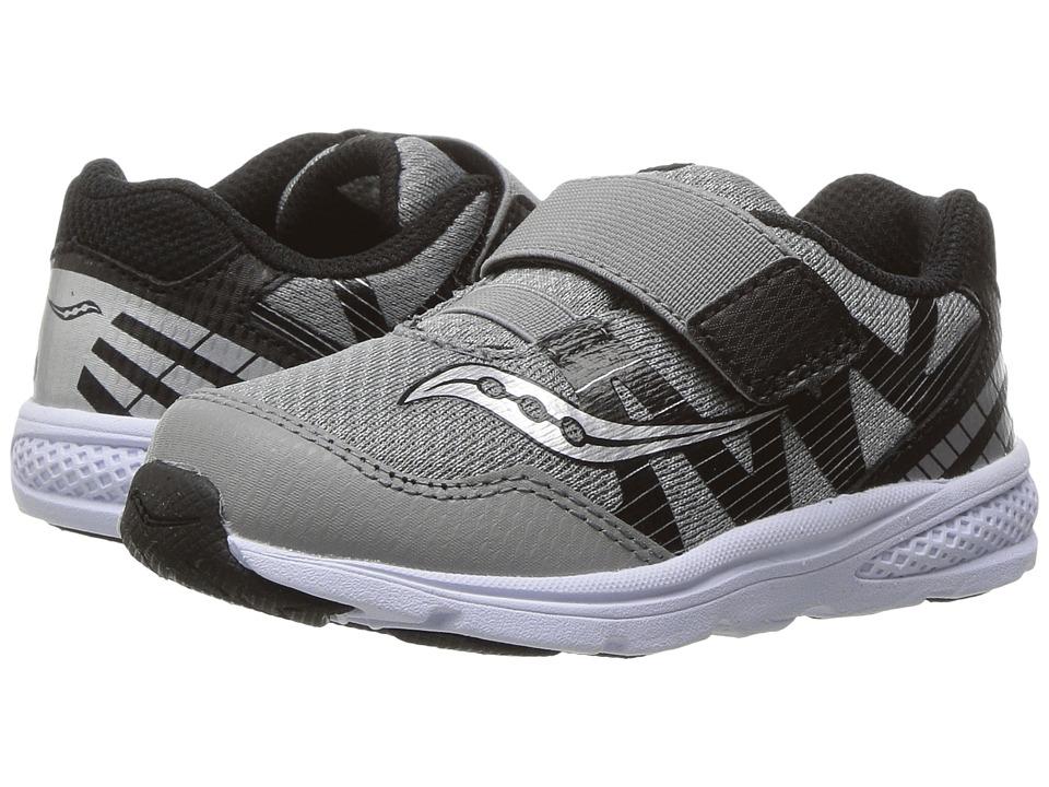Saucony Kids - Ride Pro (Toddler/Little Kid) (Grey/Black) Boys Shoes