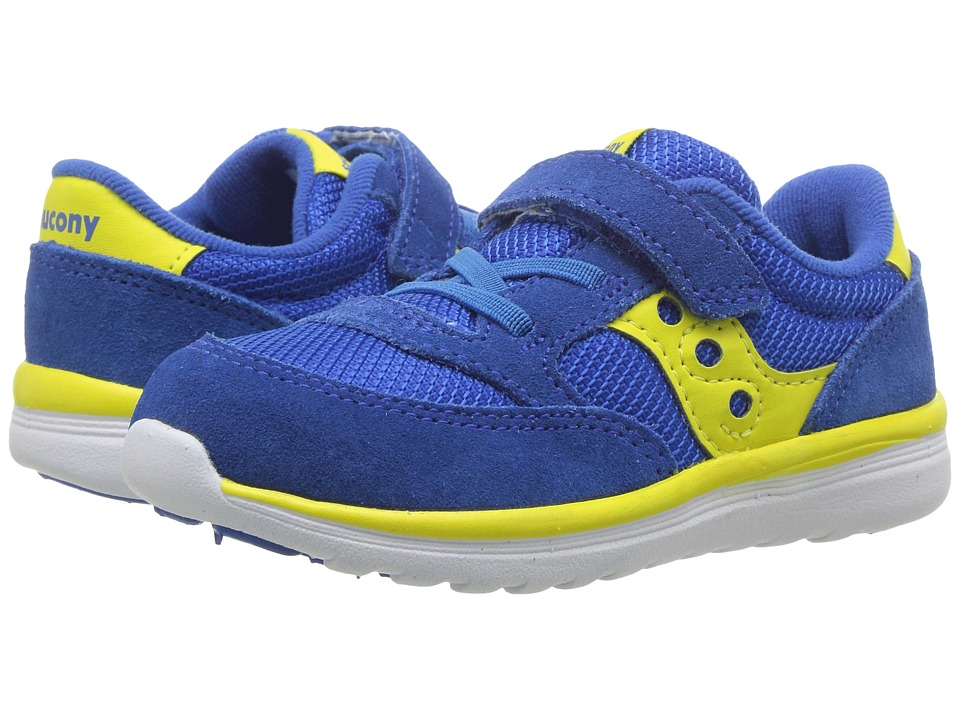 Saucony Kids Jazz Lite (Toddler/Little Kid) (Blue/Yellow) Boys Shoes