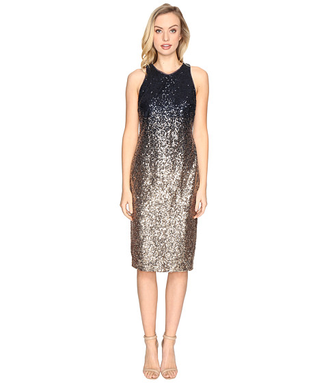 rsvp Normandy Ombre Sequin Dress - Navy/Gold