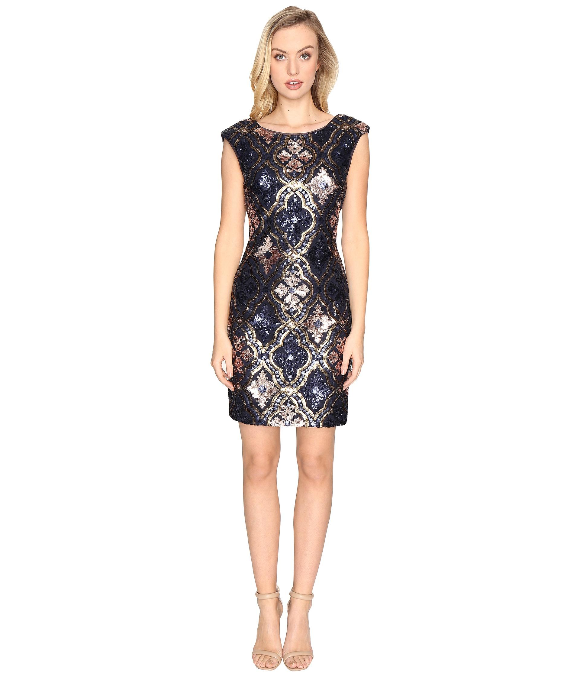 Bcbgmaxazria Pat Ombre Sequin Sheath Dress Royal Blue Combo ...