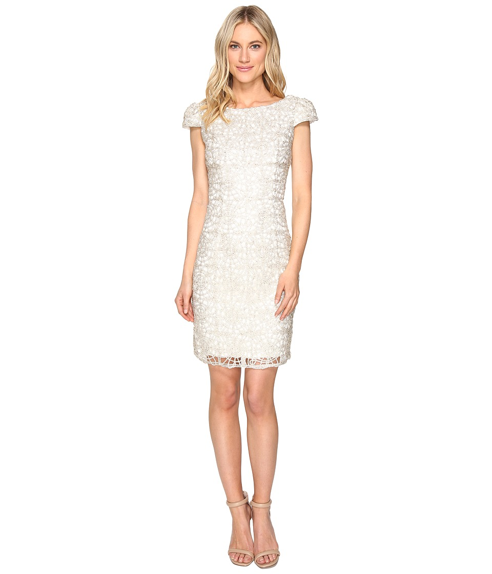 rsvp Norris Sequin Lace Dress (Ivory/Gold) Women