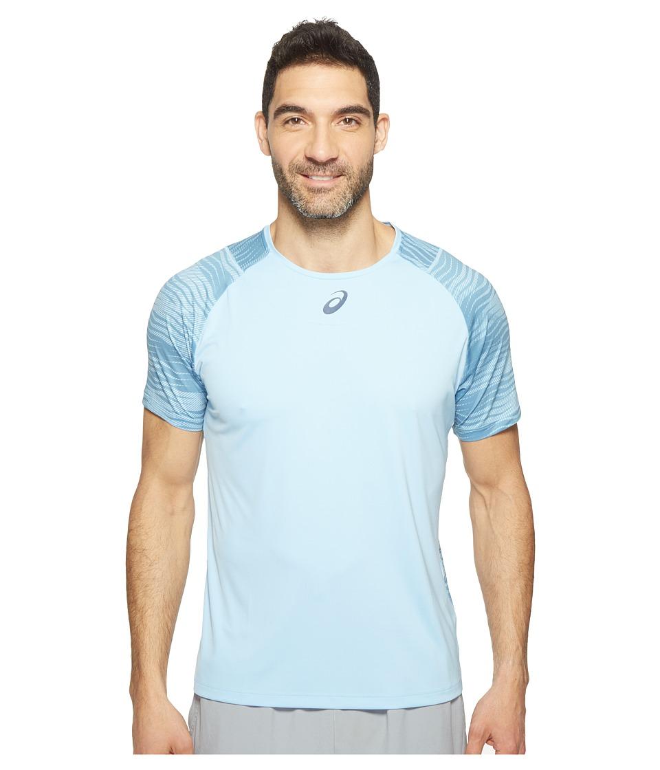 ASICS Tennis Club Challenger GPX Top (Powder Blue) Men