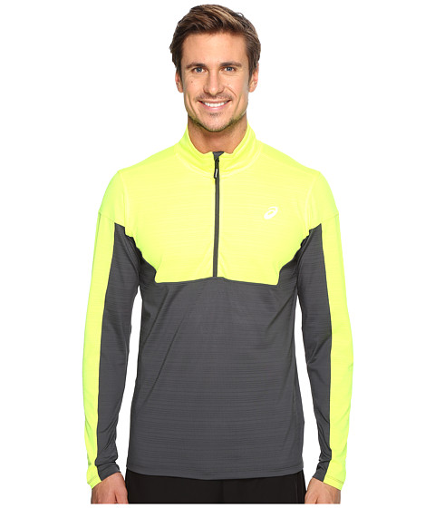 ASICS Lite-Show 1/2 Zip Top - Safety Yellow/Dark Grey