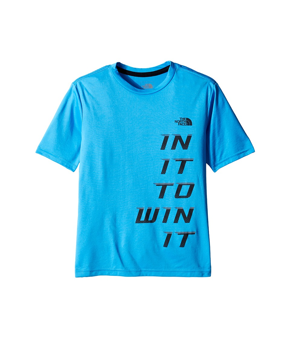 The North Face Kids Short Sleeve Reaxion Tee (Little Kids/Big Kids) (Clear Lake Blue) Boy