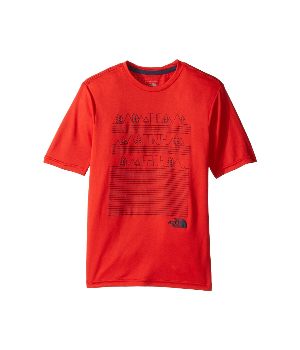 The North Face Kids Short Sleeve Reaxion Tee (Little Kids/Big Kids) (High Risk Red) Boy