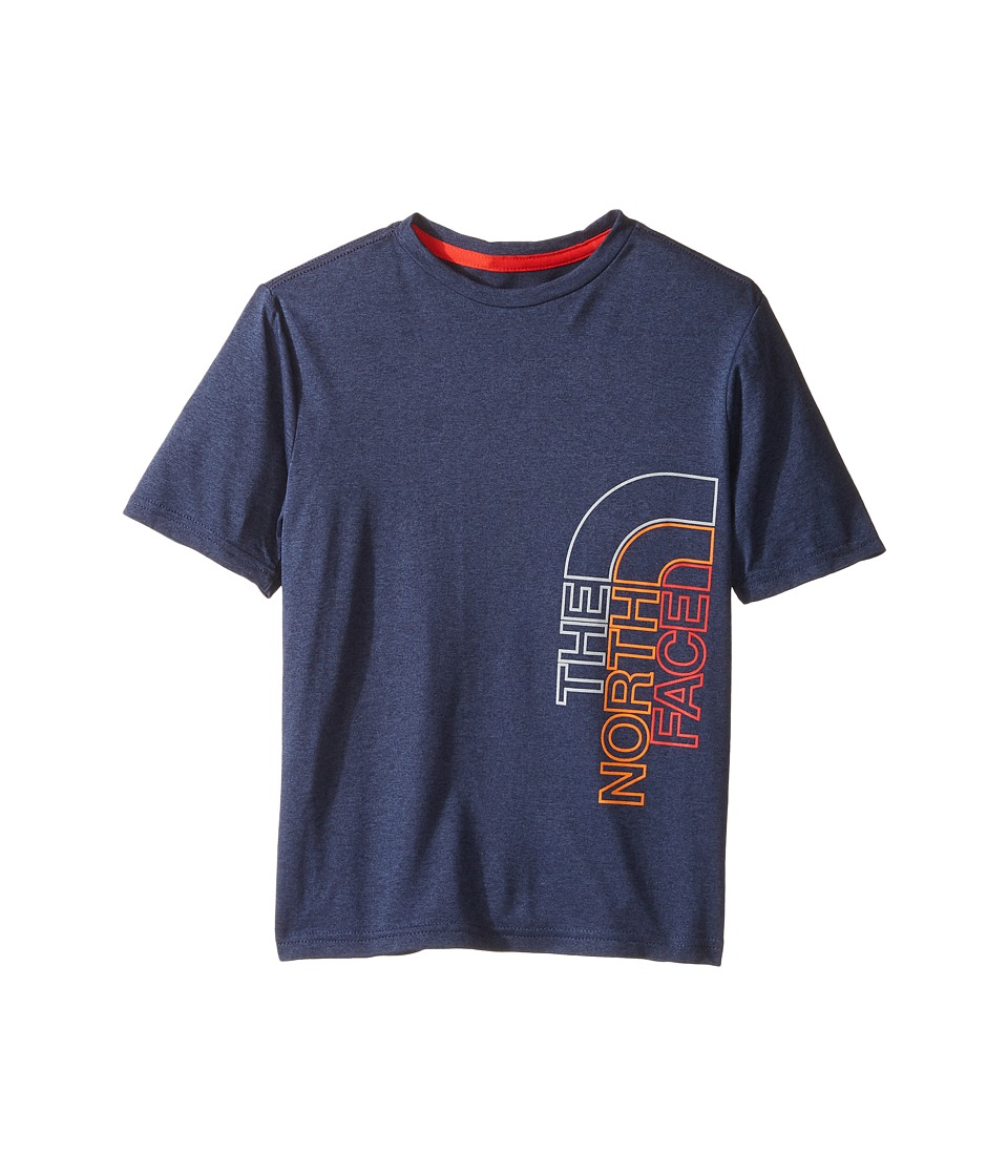 The North Face Kids Short Sleeve Reaxion Tee (Little Kids/Big Kids) (Cosmic Blue Heather) Boy