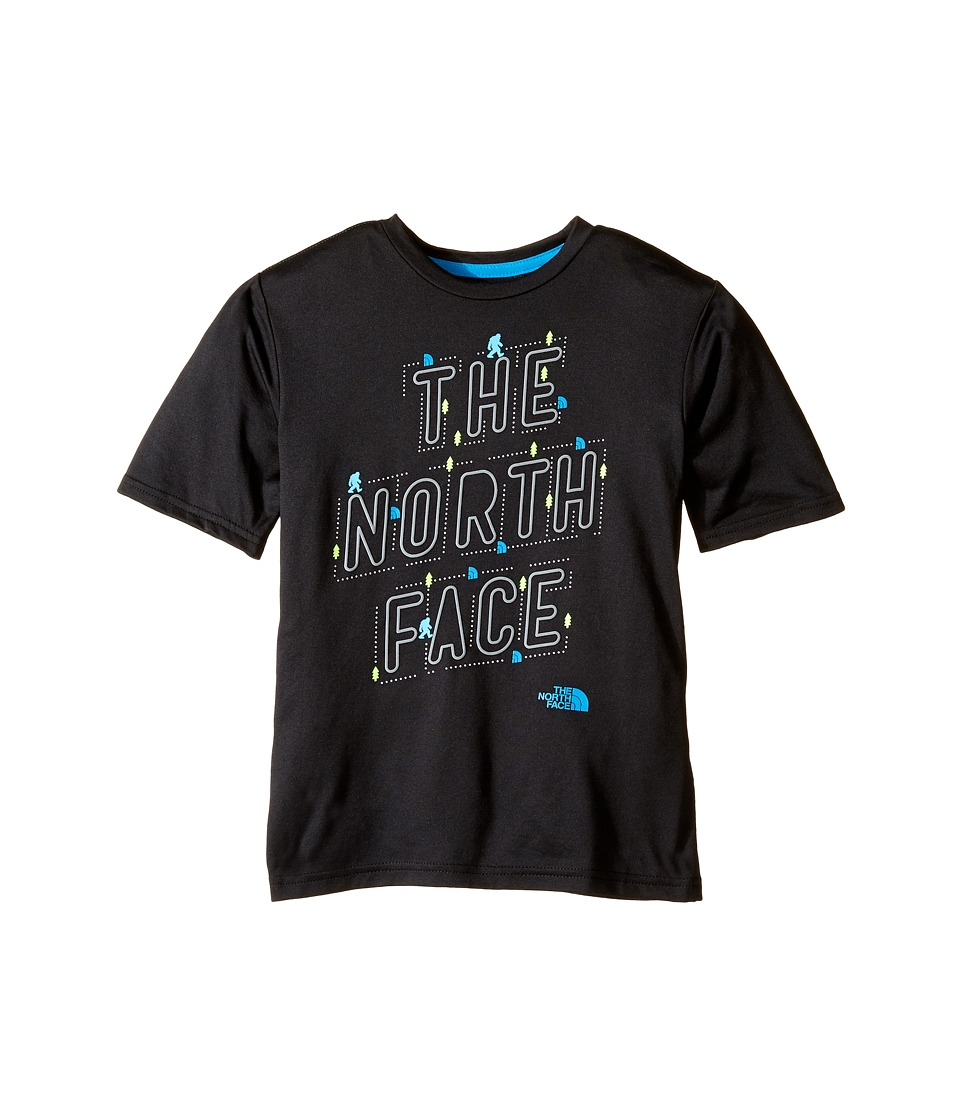 The North Face Kids Short Sleeve Reaxion Tee (Little Kids/Big Kids) (TNF Black) Boy