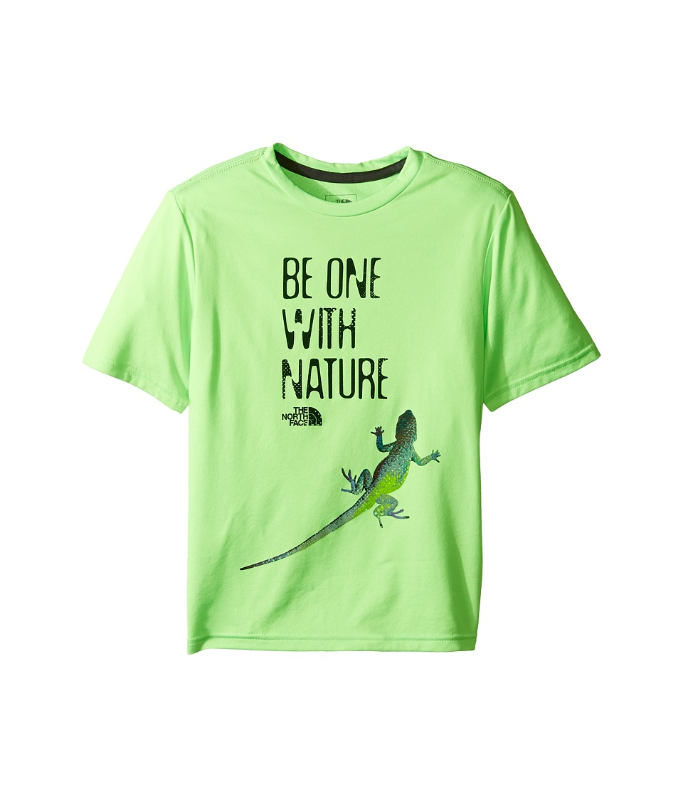 The North Face Kids Short Sleeve Reaxion Tee (Little Kids/Big Kids) (Power Green) Boy