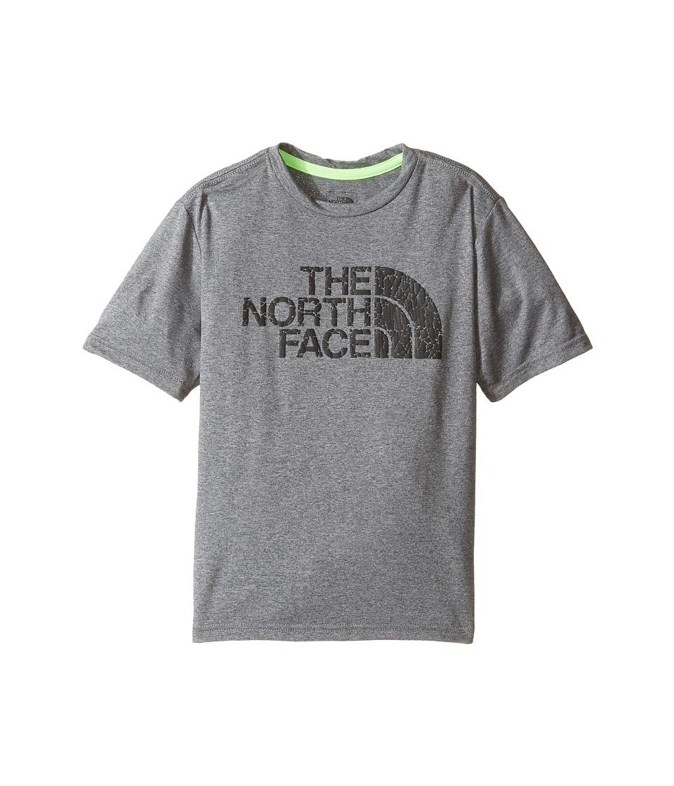 The North Face Kids Short Sleeve Reaxion Tee (Little Kids/Big Kids) (TNF Medium Grey Heather/TNF Black) Boy