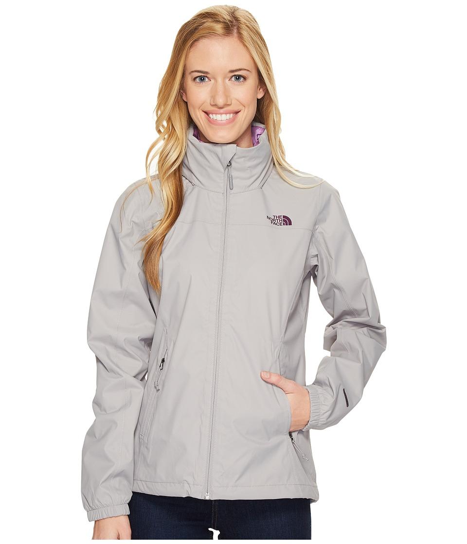 North Face Resolve Plus Jacket (Metallic Silver/Blackberr...