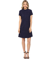 Donna Morgan - Knit High Neck Dress w/ Button