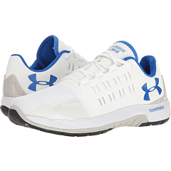 Under Armour Men's Charged Core Training Shoe (White/ White/ Ultra Blue)