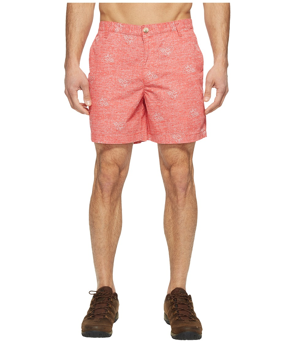 Columbia Super Bonehead II Shorts (Sunset Red Triangle Palms) Men