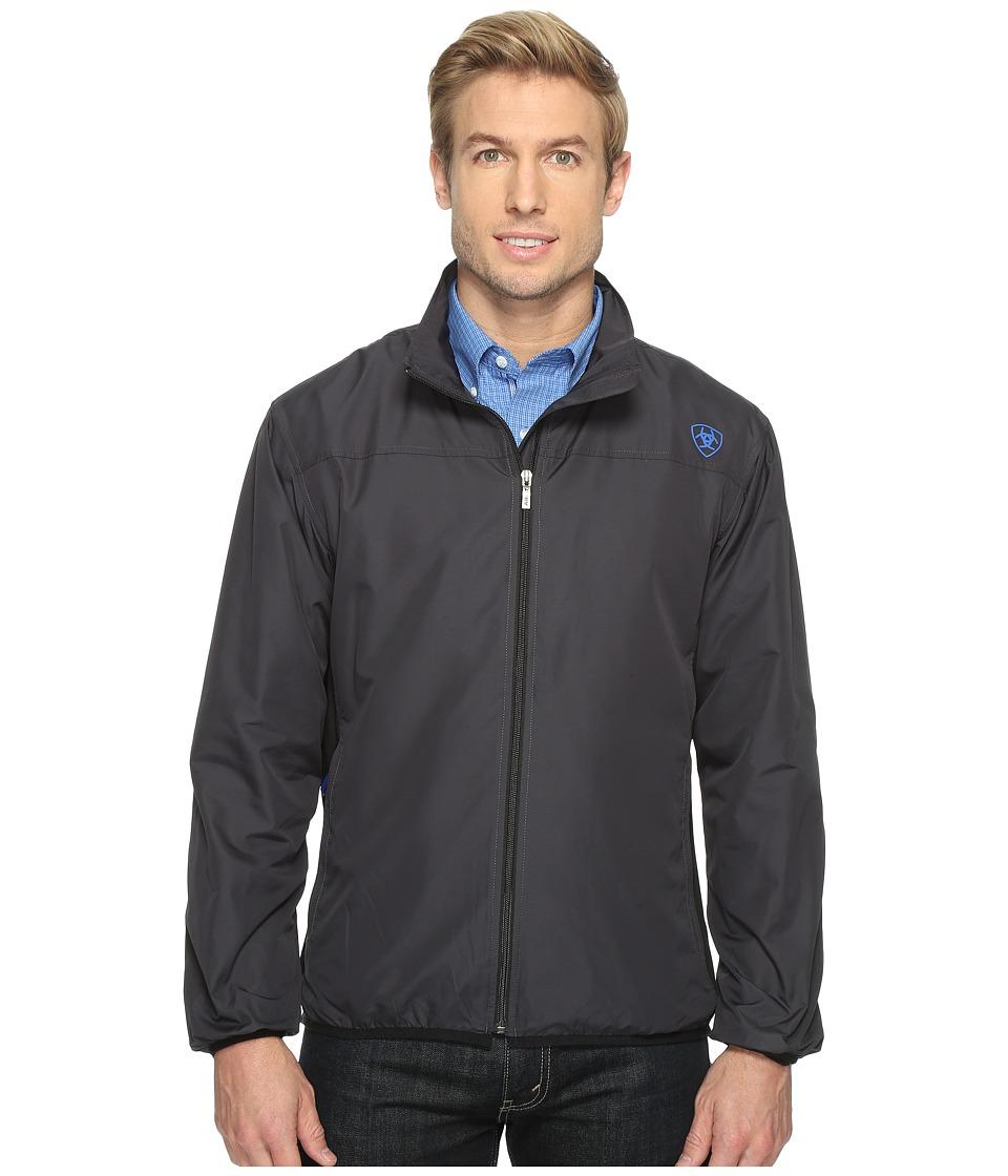 Ariat - Ideal Windbreaker Jacket (Black) Mens Coat