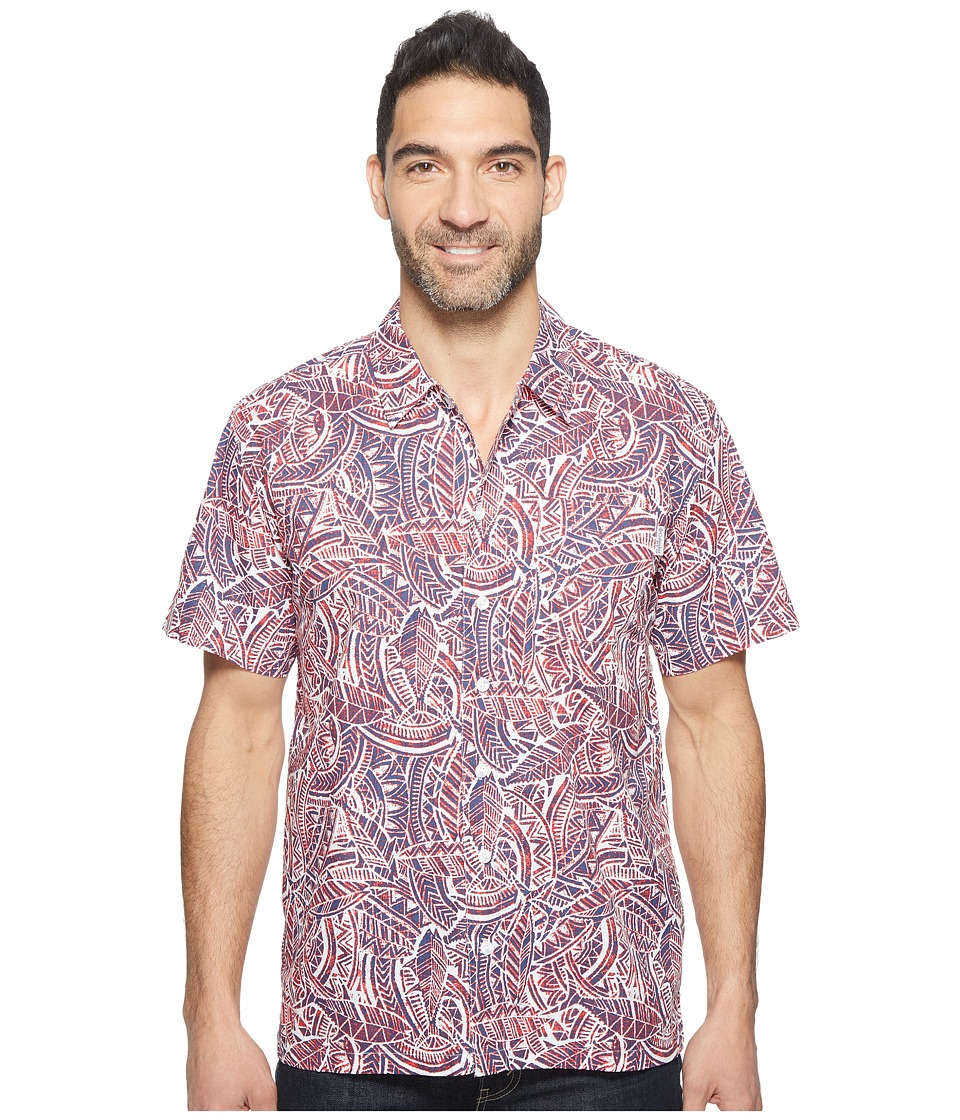 Columbia - Trollers Besttm S/S Shirt (Sunset Red Tuna) Mens Short Sleeve Button Up