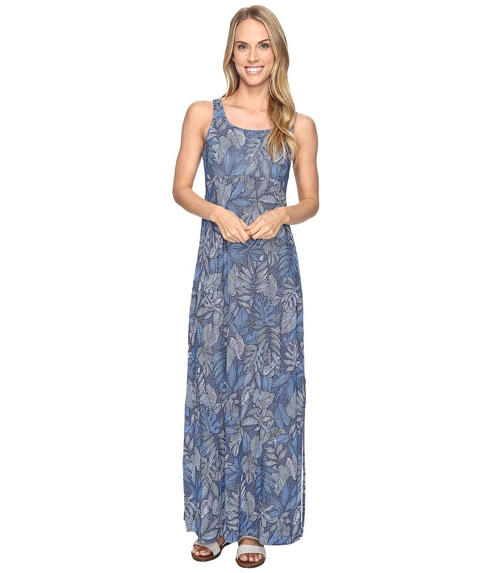 Columbia Freezer Maxi Dress (Collegiate Navy Tropical Dot) Women