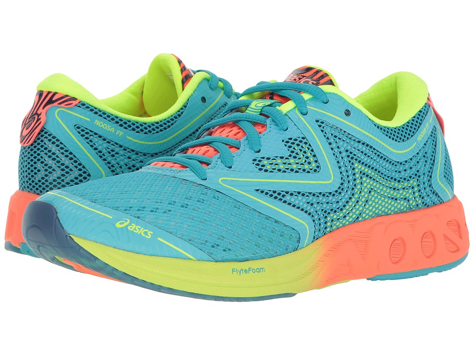 ASICS - Noosa FF (Aquarium/Flash Coral/Safety Yellow) Womens Running Shoes