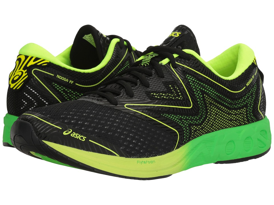 ASICS - Noosa FF (Black/Green Gecko/Safety Yellow) Mens Running Shoes
