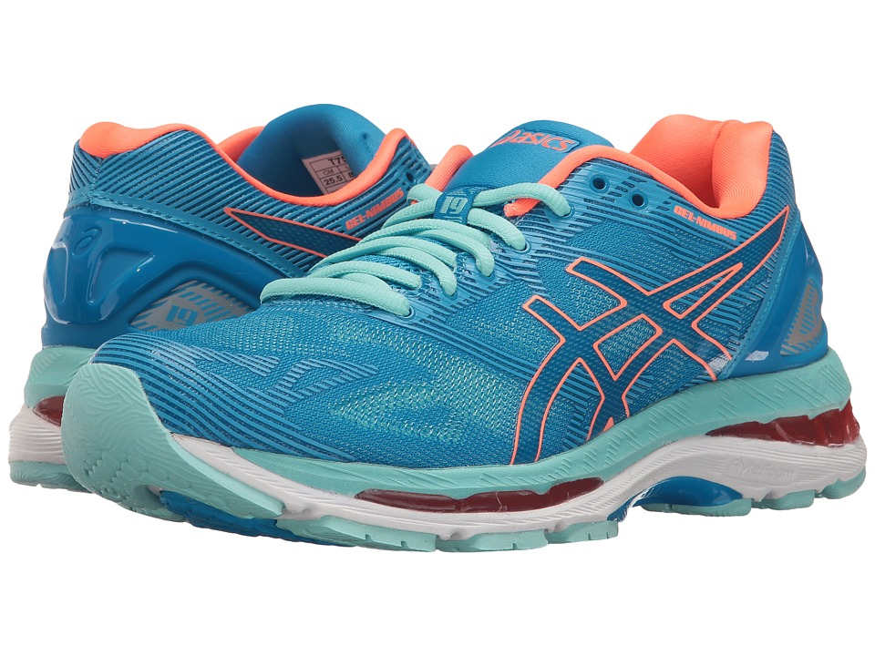 Asics GEL-Nimbus(r) 19 (Diva Blue/Flash Coral/Aqua Splash...