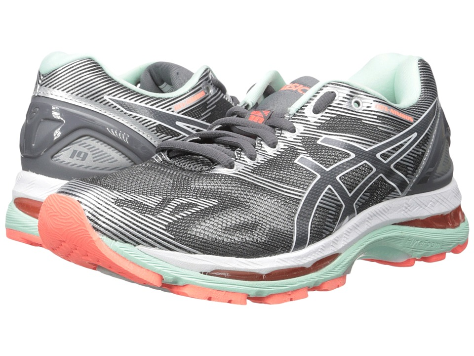 Asics GEL-Nimbus(r) 19 (Carbon/White/Flash Coral) Women's...