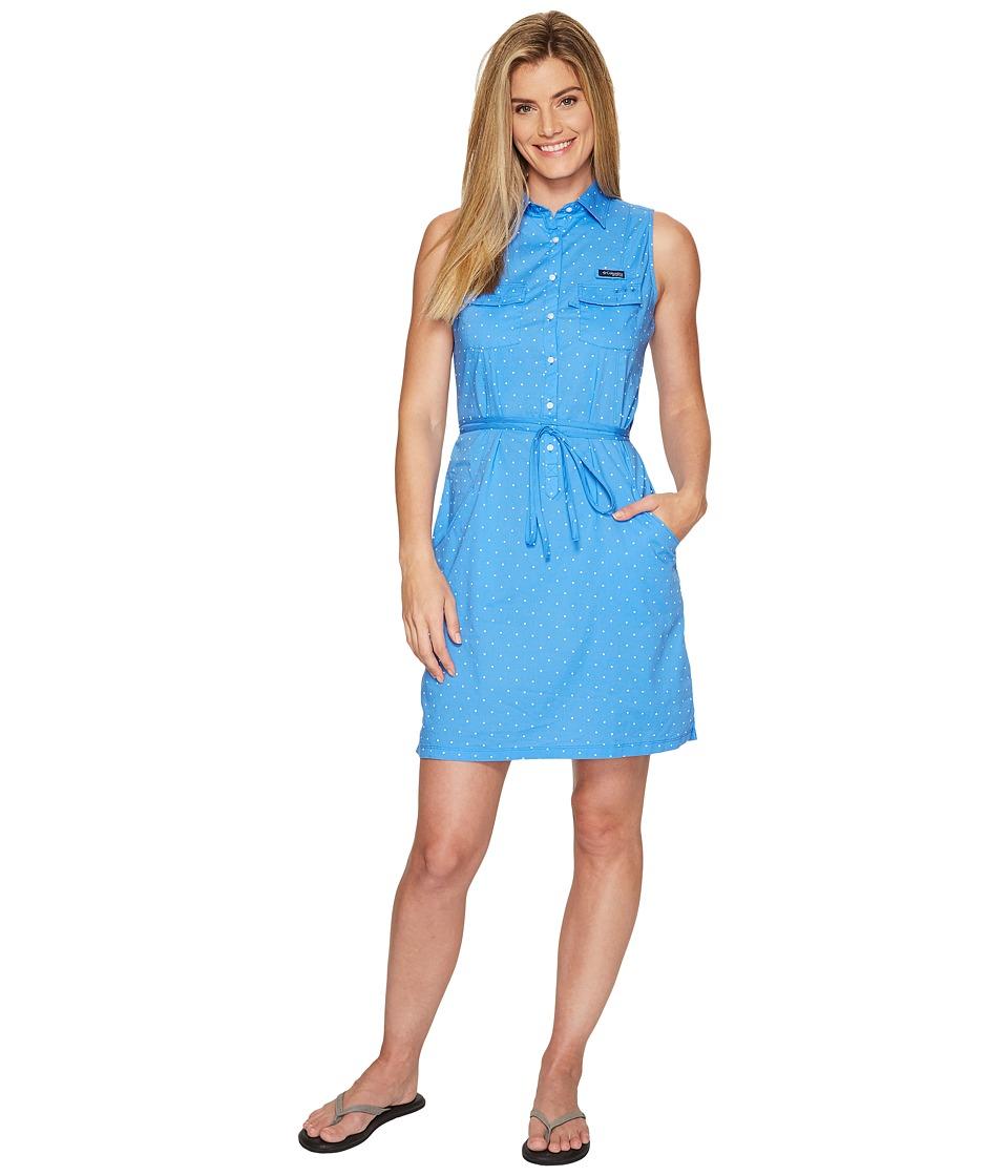 Columbia Super Boneheadtm II Sleeveless Dress (Harbor Blue Printed Polka Dot) Women