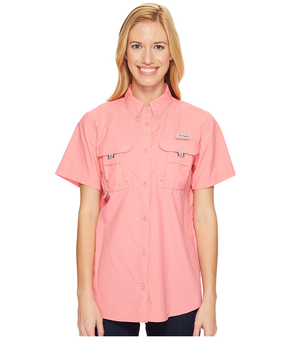 Columbia - Bahamatm S/S Shirt (Lollipop) Womens Short Sleeve Button Up