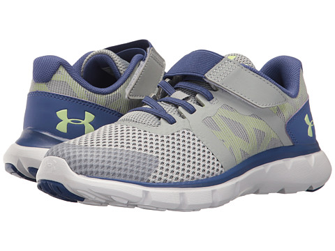 Under Armour Kids UA GPS The Shift RN 2 AC (Little Kid) - Glacier Gray/Deep Periwinkle/Lime Fizz