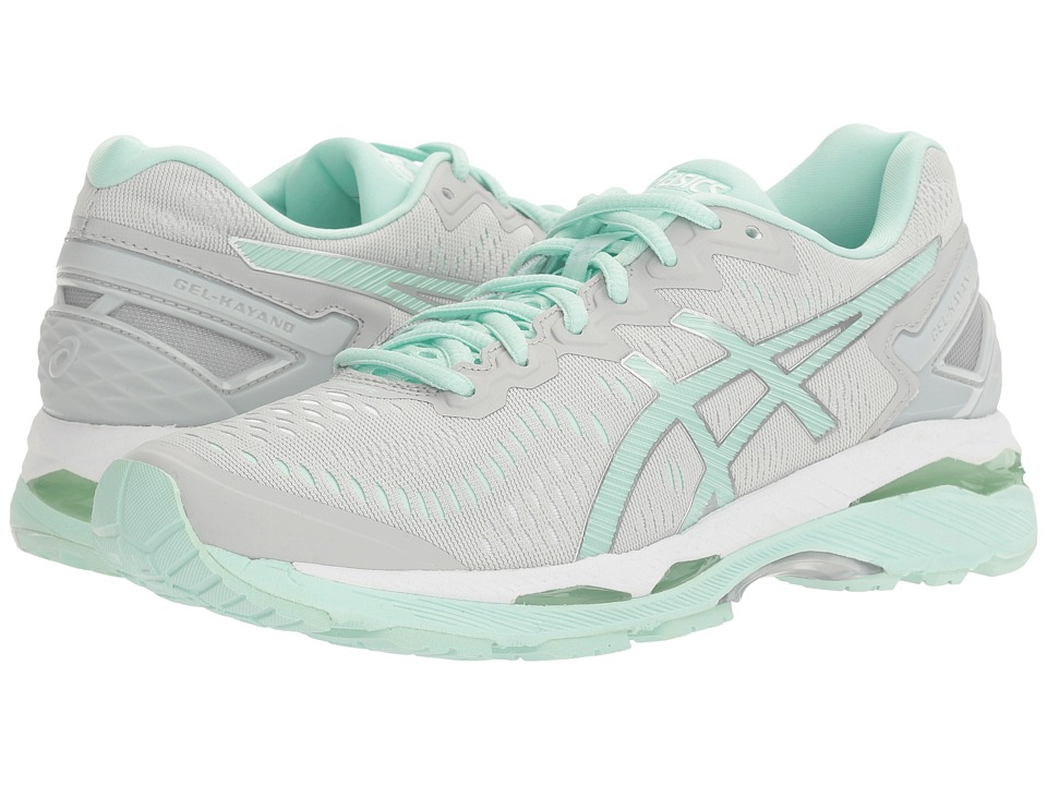 Asics Gel-Kayano(r) 23 (Glacier Gray/Bay/White) Women's R...