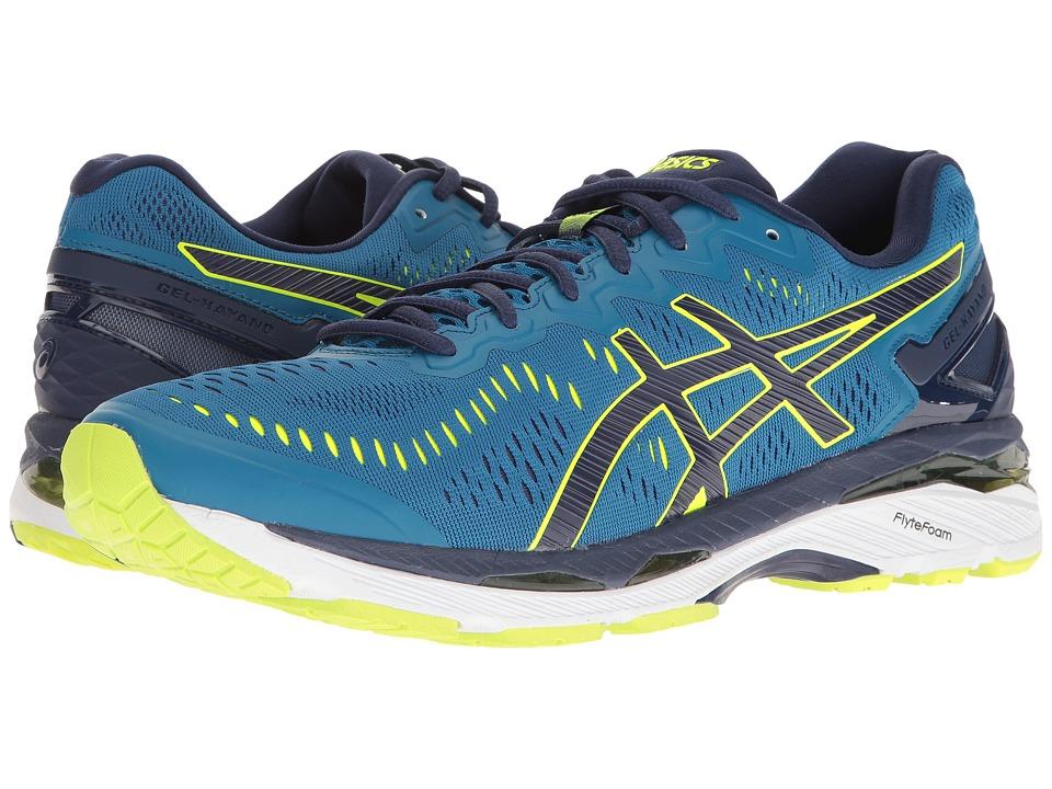 ASICS - Gel-Kayano 23 (Thunder Blue/Safety Yellow/Indigo Blue) Mens Running Shoes