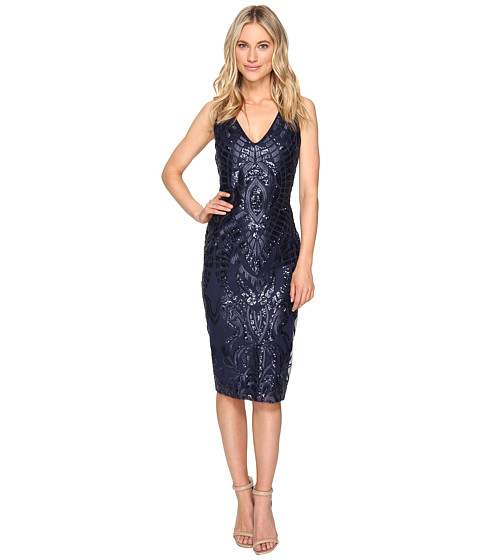 rsvp Parker Embroidered Sequin Dress