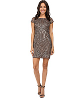 Adrianna Papell - Short Sleeve Fully Beaded Sheath