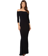 KAMALIKULTURE by Norma Kamali - Off Shoulder Fishtail Gown