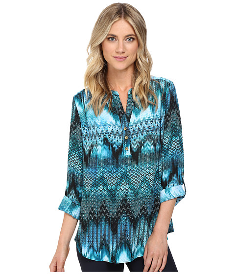 Christin Michaels Aniseed Print Top