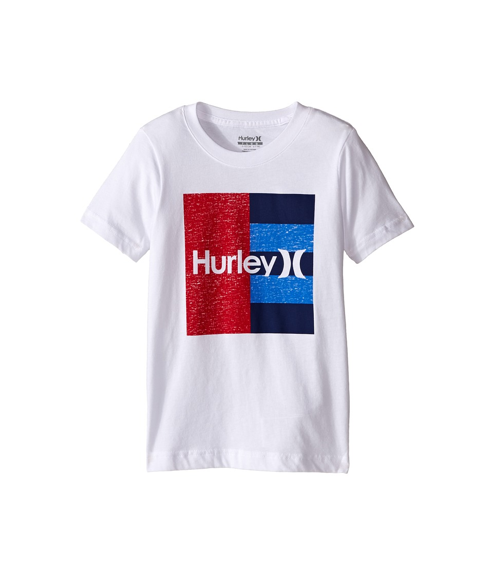 Hurley Kids Dont Start Tee (Little Kids) (White) Boy